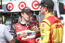 Sébastien Bourdais, KV Racing Technology, Chevrolet; Ryan Hunter-Reay, Andretti Autosport, Honda
