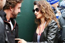 (L to R): Fernando Alonso, McLaren with Penelope Cruz, Actress