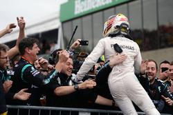 Race winner Lewis Hamilton, Mercedes AMG F1 celebrates in parc ferme