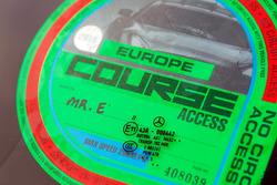 Car pass for Bernie Ecclestone