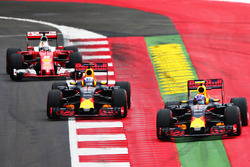 Max Verstappen, Red Bull Racing RB12 leads team mate Daniel Ricciardo, Red Bull Racing RB12