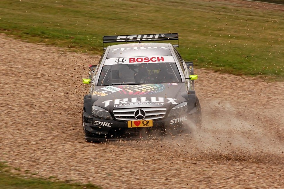 Ralf Schumacher goes for a spin, DTM Oschersleben 2009
