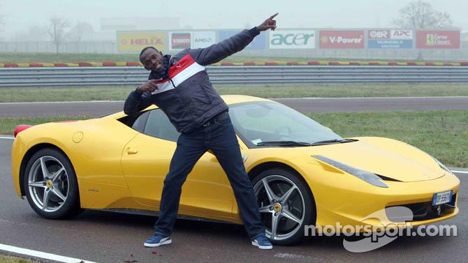 Usain Bolt Ferrari 458