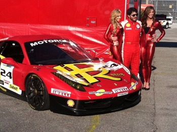 The Classy MOMO Grid Girls stopped by to wish Carlos good luck prior to Race #2 in Daytona