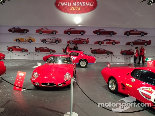 Classic Ferrari's on Display