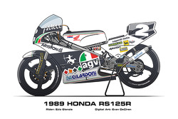 Honda RS125R – 1989 Ezio Gianola