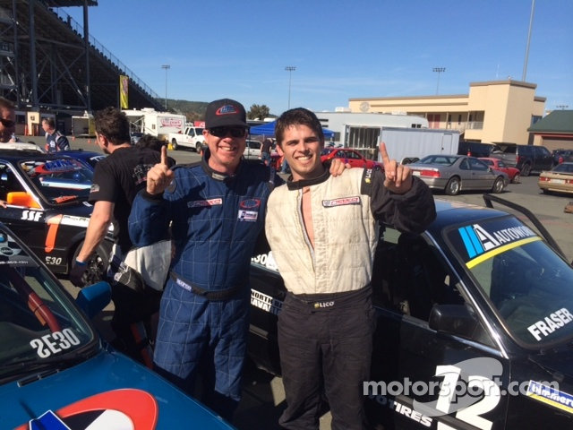BTM Motorwerks Teammates Brad McClure & Michael Shawhan celebrate after their podium finishes.