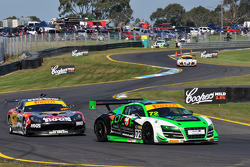 Ockert Fourie (Audi R8 LMS GT3) and Mark Griffith (Hog's Breath Cafe Ginetta G50 GT4)