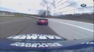 Tony Stewart Slides Into The Wall - Kansas - 04/22/2012