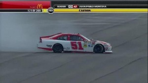 Busch Draws Caution Flag Out - Michigan - 06/17/2012
