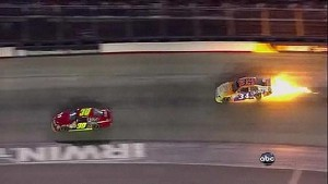 Regan Spins Into Front Stretch Wall - Bristol - 08/25/2012