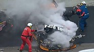 NASCAR Bristol crash between Jamie Dick and Nelson Piquet Jr.