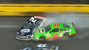 Danica and Keselowski collide at Charlotte