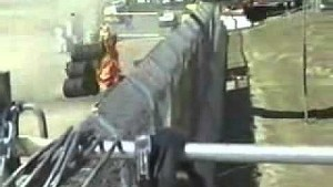 Patrick Carpentier CART crash at Laguna Seca, Monterey CA 2000