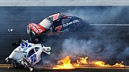 2013 Drive4COPD Nationwide Kyle Larson crashes into fence at Daytona