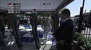 Australian GP 2014: Security guard asks Lewis Hamilton for his pass