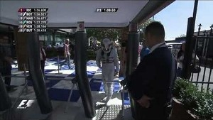 Australian GP 2014: Security guard asks Lewis Hamilton for his pass