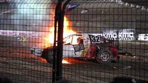 Eric Barron crash Lake Elsinore, from the grandstands