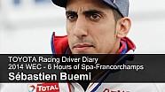 Toyota Racing Driver Diary - Sébastien Buemi, FIA WEC Spa-Francorchamps 2014