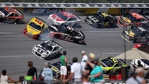 Major damage in late 'Dega multi-car crash