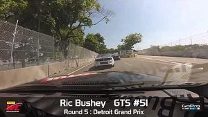 Detroit 2014 - Ric Bushey On Board Highlights of Round 5 GTS