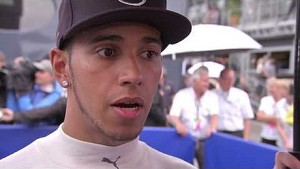 Post-race interview with Lewis Hamilton: