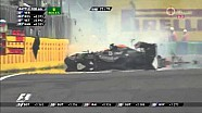 Hungaroring 2014 Sergio Perez crash