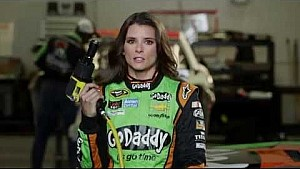 Stewart Pranks Danica Patrick at GoDaddy Commercial Shoot