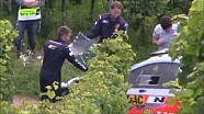 Heavy crash of Thierry Neuville during the shakedown for Rally Germany 2014
