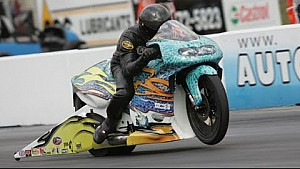 Jerry Savoie tops the field in Reading in Pro Stock Motorcycle   NHRA