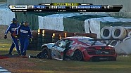 Audi driver Spencer Pumpelly crashes hard into barrier  - 2014 TUDOR Championship