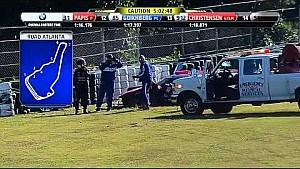 2014 TUSCC Petit Le Mans - Gustavo Yacaman Crash