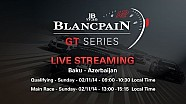 Blancpain Sprint Series - Baku - Main Race - Live Stream.