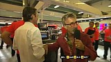 Eddie Jordan trying to interview Sam Michael