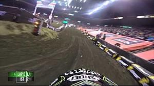 Helmet Cam - Chris Blose Arenacross Main Event 1 Win 2015 in Cincinnati, Ohio