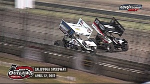 Highlights: World of Outlaws Sprint Cars Calistoga Speedway April 12th, 2015