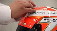 La fabrication du casque de Kimi Räikkönen