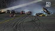 Clint Bowyer Barrel Rolls on Final Lap - Budweiser Duel 2 - 2014 NASCAR Sprint Cup
