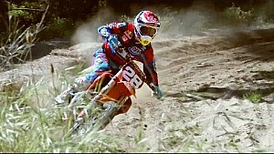 Blasting Berms on the new KTM 2-troke 150cc with Jessy Nelson