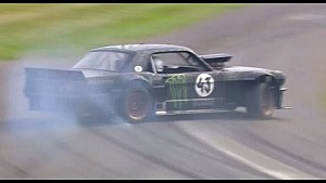 Ken Block overcooks it at Goodwood - then smokes it out