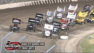 Highlights: World of Outlaws Sprint Cars Dodge City Raceway Park July 3rd, 2015