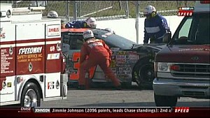 K&N Pro Series big wreck at Loudon