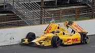 From the grandstand: Ryan Hunter-Reay crashes at Indianapolis 2014