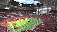 Animation du Mercedes-Benz Stadium