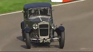 Incredible 1928 'Owlett' classic car tears round chicane at Goodwood