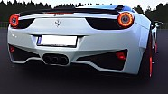 FERRARI 458 iTALIA Sound + DRAG RACE 550Plus Club Aceleration V8 Revs Prior