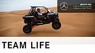 Lewis Hamilton - awesome dune buggy action in the desert