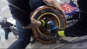 Toro Rosso mechanics practice pit stop
