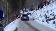 Елфін Еванс вдарив машину Кубіци - Fiesta WRC в Монте-Карло 2016 року
