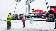 El detras en la pista de nieve de Max Verstappen en Kitzbühel